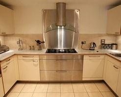 The kitchen of a show home